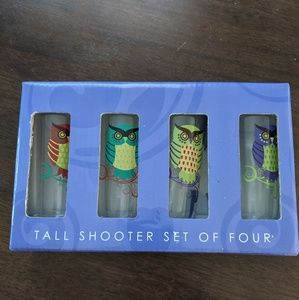 Owl Tall shot glasses